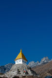 Stupa. A Buddhist stupa high in the Himalayas Royalty Free Stock Images