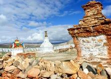 Stupa buddista antico nel Tibet Immagine Stock Libera da Diritti