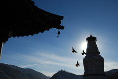 Stupa budista en China Imagenes de archivo
