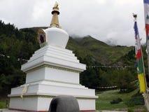 Stupa budista en el Himalaya de Annapurna Imágenes de archivo libres de regalías
