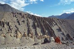 Stupa budista en mustango superior Fotografía de archivo libre de regalías