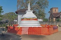 Stupa in Candy, Sri Lanka Fotografia Stock Libera da Diritti
