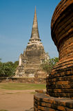 Stupa (chedi) van een Wat royalty-vrije stock foto