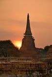 Stupa (chedi) van een Wat Royalty-vrije Stock Fotografie