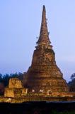 Stupa (chedi) van een Wat Royalty-vrije Stock Foto's