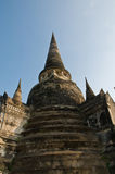 Stupa (chedi) of a Wat in Ayutthaya, Thailand Royalty Free Stock Image