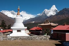 Stupa chez Tengboche Images stock