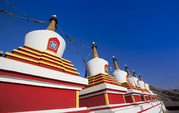 Stupa in China Royalty-vrije Stock Foto's