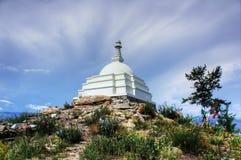 Stupa d'éclaircissement sur l'île Ogoy Images libres de droits