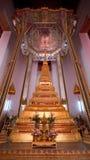 Stupa d'or chez Wat Mahathat à Bangkok, Thaïlande Image libre de droits
