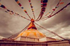 Stupa de Bodhnath en el valle de Katmandú, Nepal Fotos de archivo libres de regalías
