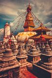 Stupa de Bodhnath en el valle de Katmandú, Nepal Imagen de archivo