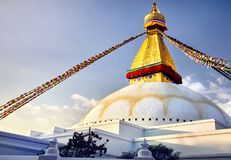 Stupa de Bodnath em Kathmandu Foto de Stock
