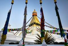 Stupa de Bodnath en Katmandu Fotografía de archivo