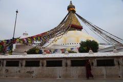 Stupa de Boudhanath em Kathmandu, Nepal fotografia de stock