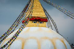 Stupa de Boudhanath en Katmandu, Nepal Imágenes de archivo libres de regalías