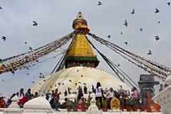 Stupa de Boudhanath en Katmandu, Nepal Fotografía de archivo