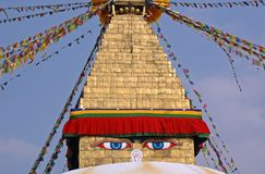 Stupa de Boudhanath, Katmandu Foto de archivo