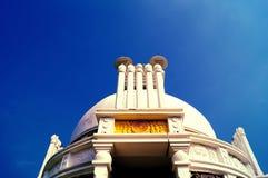 Stupa de Shanti : pagoda de paix consacrée à seigneur Bouddha Images libres de droits