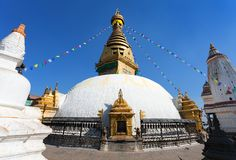 Stupa de Swayambhunath - Kathmandu fotografia de stock