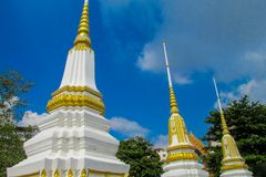 Stupa de temple bouddhiste en Thaïlande, Bangkok Photographie stock