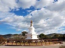 Stupa del rezo en un centro budista Imagen de archivo libre de regalías