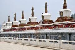 Stupa del tempiale di Taer Fotografia Stock