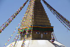 Stupa del templo budista en Nepal Foto de archivo