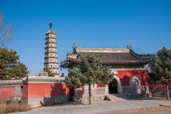 Stupa della località di soggiorno di montagna di Hebei Chengde Fotografia Stock Libera da Diritti