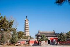 Stupa della località di soggiorno di montagna di Hebei Chengde Immagine Stock