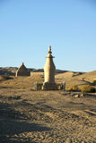Stupa in desert Royalty Free Stock Photography