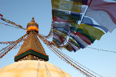 Stupa di Bodnath Fotografia Stock Libera da Diritti