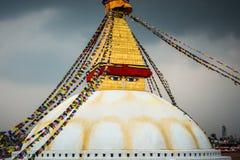 Stupa di Boudhanath a Kathmandu, Nepal Immagini Stock Libere da Diritti