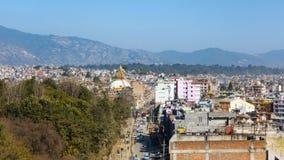 Stupa di Boudhanath a Kathmandu, Nepal Immagine Stock