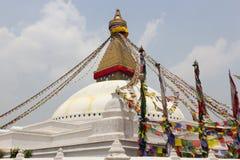 Stupa di Boudhanath a Kathmandu, Nepal fotografia stock libera da diritti