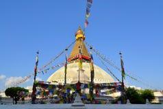 Stupa di Boudhanath a Kathmandu, Nepal immagini stock