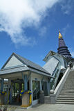 Stupa On Doi Inthanon. Beauty in the midst of Forests and mountains royalty free stock image