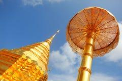 Stupa dourado de Doi Suthep Imagens de Stock Royalty Free