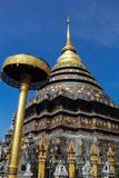 Stupa dourado no lumpang Imagem de Stock