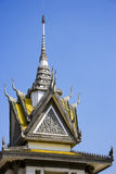 stupa ek choeung центра Камбоджи направленное на геноцид стоковые фото