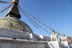 Stupa and elephants Royalty Free Stock Photos
