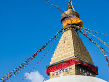 Stupa en Boudanath Foto de archivo libre de regalías