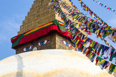 Stupa en Boudanath Fotografía de archivo libre de regalías