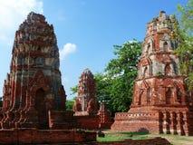 Stupa en el mahathat del wat Fotografía de archivo libre de regalías