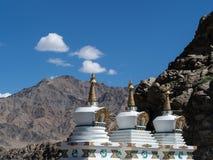 Stupa en el palacio Leh Ladakh, la India de Shey Foto de archivo