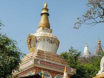 Stupa en el pie de la colina de Swayambu, Swayambhunath, Katmandu, Nepal foto de archivo