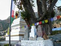 Stupa en Ghyaru, Nepal Imágenes de archivo libres de regalías