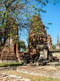 Stupa en Wat Mahathat Photographie stock