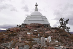 Stupa  Enlightenments on lake Baikal Stock Photography