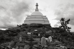 Stupa Enlightenments On Lake Baikal Royalty Free Stock Photography